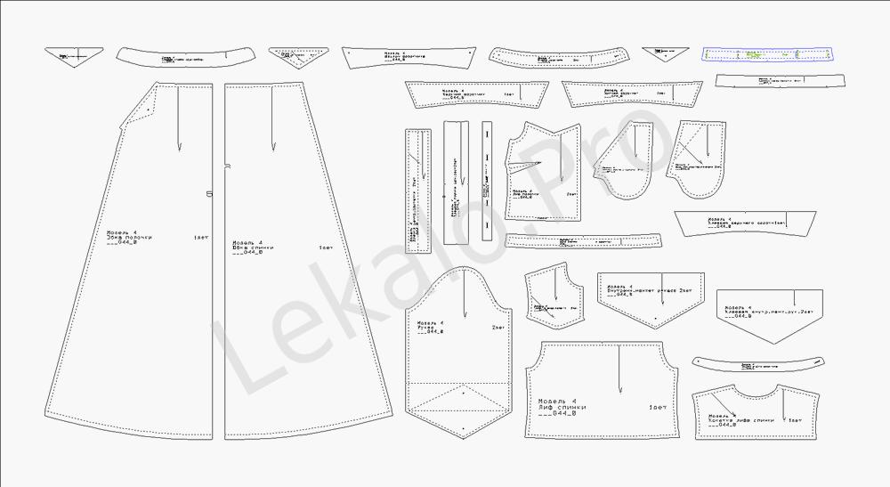 e1eb95fb933 Разработка лекал · Изготовление лекал одежды